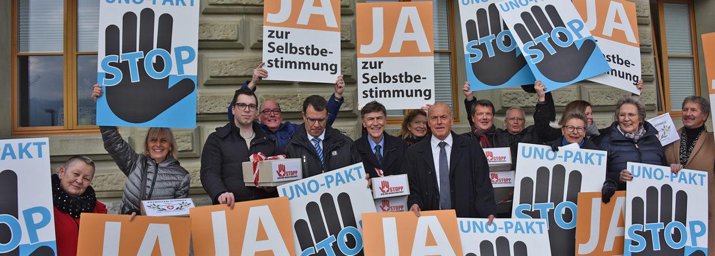 Presentata la petizione «STOP al Patto ONU della migrazione»