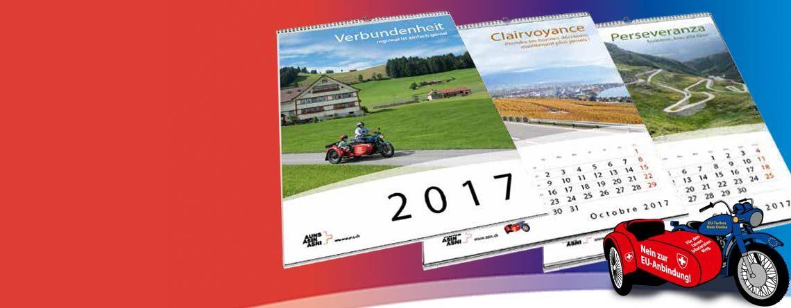 Commandez le calendrier 2017 de l'ASIN