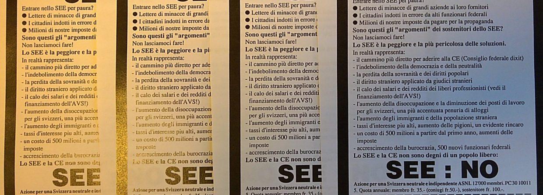 6 dicembre 1992: NO all'integrazione istituzionale nell'UE